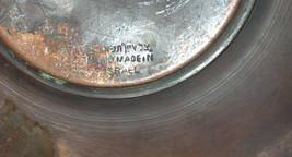 Judaica Israel Vintage Copper Tray Zel Zion Signed 1960's Wall Hang Verdigris  image 5