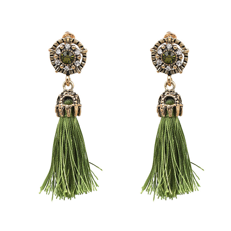 JURAN 2017 Vintage Design Colorful Tassel Statement Earring 2017 New Fashion Rop