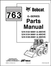 Bobcat 763 G-Series Skid Steer Loader Parts Manual on a CD - $12.00