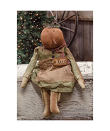 "farmhouse primitive country rustic Christmas Kate Snowgirl snowman 18"" doll - $41.99"