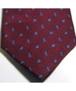 CHARLES TYRWHITT Rich Red Navy Blue Paisley RARE 100% Silk Tie - $29.99