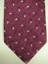 NEW Ermenegildo Zegna Purple With Blue and Silver Silk Tie Italy - $74.53