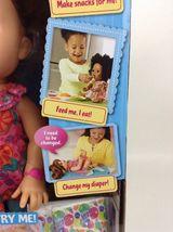 Baby Alive Super Snacks Snackin Sara Brunette Doll Talks Eats Wets 2015 Hasbro image 4
