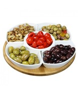 Elama Signature 12 1/4 Inch 6-Piece Lazy Susan Appetizer & Condiment Ser... - $41.99