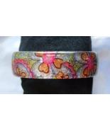 Elegant Pastel Flowers Glitter Lucite Bangle Br... - $12.95