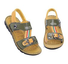 New Boy's Beach Sandals Comfortable Summer Shoes ARMY GREEN, Feet Length 16CM