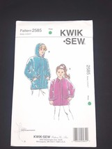 Kwik Sew Sewing Pattern Girls Hoodie Jacket & Coat #2585 Sizes  4 5 6 7 - $6.95