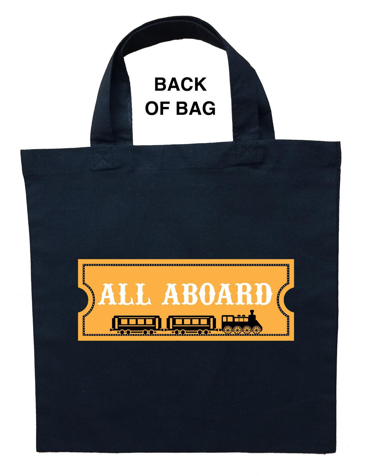Train Conductor Trick or Treat Bag, Train Conductor Halloween Bag