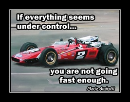 Inspirational Quote Poster Mens Gift, Office Wall DecorMario Andretti Wa... - $19.99+