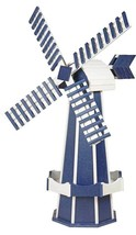 6½ FOOT JUMBO WINDMILL - Patriot Blue Working Dutch Garden Weathervane A... - £402.54 GBP