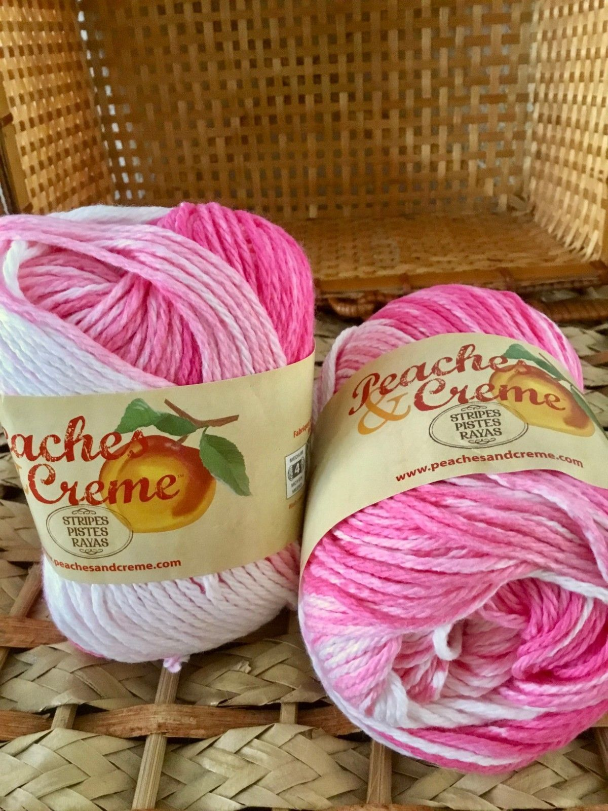 Peaches & Creme Worsted wt Cotton Yarn 2oz and 50 similar items