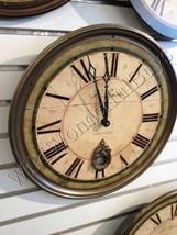 Sheffield Wall Clock Green 18 Gallery Pendulum French Country Ballard De... - $119.00