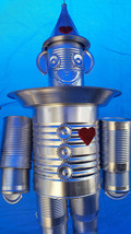 SILVER Tin Man Bird Feeder - Great Gift Idea! Made from recycled Cans. image 2