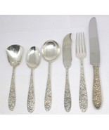 SOUTHERN ROSE PATTERN BY MANCHESTER STERLING FLATWARE SILVER 44 PC LOT #I-7 - $2,722.49