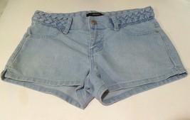 Womens Juniors *Forever 21* Blue Jean Shorts Braided waist Size 25 (bd) - $7.59