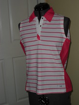 Fila Performa Shirt Size L White Pink Tennis Golf Nwt - $20.49