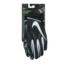 Nike Superbad Football Gloves Adult Size Large Black White NEW PGF938-091 - $43.51