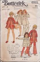 Butterick 6521 Children's & Girls' Dress, Pants & Short - $3.99