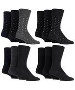 Sockshop Gentle Grip - Mens 3 Pack Non Binding Wool Crew Dress Socks, 6-... - $10.61