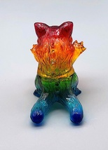 Max Toy Custom Clear Rainbow Mini Nyagira by Mark Nagata image 2