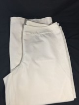 Lane Women White Pants Nordstorm Stretch Rayon Dress Pants  Regualr Size 26 - $20.57