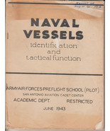 Naval Vessels Identification & Tactical Functions WWII W/ 2 Ship ID shee... - $58.51
