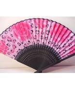 Roses with Hearts Silk Handheld hand Fan Folding Fans Asian Hand Fan #Fa... - $9.99