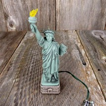 Vintage Statue Liberty Christmas Ornament Hallmark Magic Music Light 1996 - $31.99