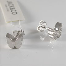 925 RHODIUM SILVER JACK&CO EARRINGS WITH BUTTERFLY CUBIC ZIRCONIA MADE IN ITALY image 4