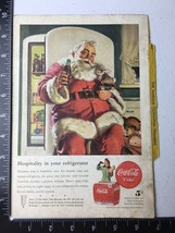 1947 Santa Coca-Cola Coke Ad National Geographic  Christmas Toys - $7.80