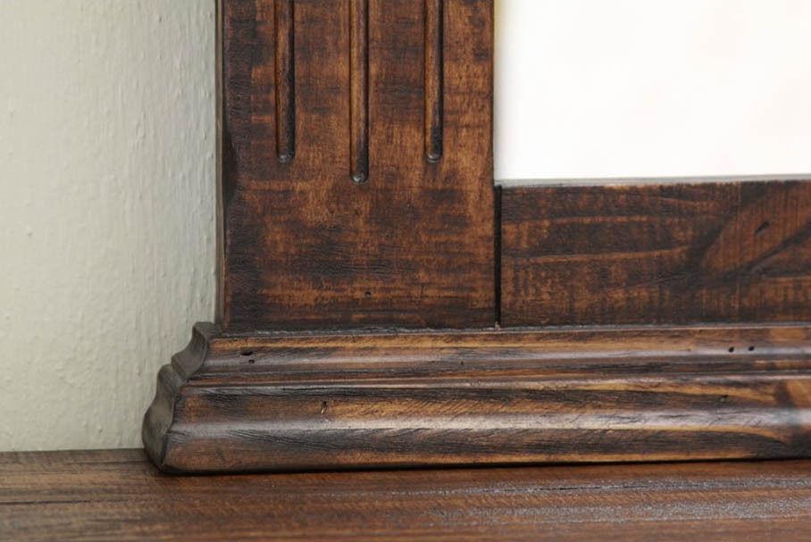 Rustic Mauve 6 Drawer 2 Door Dresser Solid Wood Lodge Shabby Chic