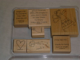 Stampin' Up IF THE HALO FITS Set 7 Angel Theme Good Friends Watering Can... - $16.18