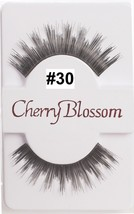CHERRY BLOSSOM EYELASHES MODEL# 30 -100% HUMAN HAIR BLACK 1 PAIR PER PACK - $1.48+
