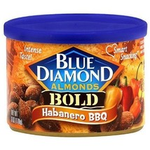 Blue Diamond Almonds BOLD Habanero BBQ Flavor 6oz can fresh - $9.99