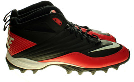 Nike Speed Shark 2011 Mens Sz 12.5 Red/Black/White Football Cleats 442252-016 - $21.12