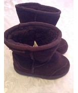 Toddler Pawz by Bear Paw Size 9 boots brown suede leather winter   - $39.99