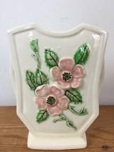 Vtg Hull Art Pottery USA Rosella R-6 Pink White Dogwood Ceramic Decor Va... - $31.99
