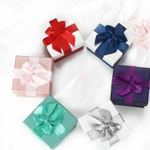 Elegant Style Jewelry Gift Box Cardboard Material With Cross Flower Bow ... - $8.99