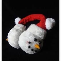 "Sterling 7"" Plush Snowmen Face Novelty Christmas Ear Muffs - One Size - €14,57 EUR"