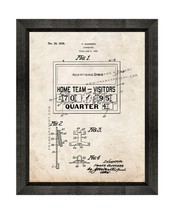Scoreboard Patent Print Old Look with Beveled Wood Frame - $24.95+
