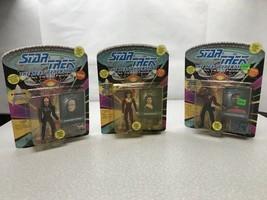 Lot Of 3 Star Trek The Next Generation Action Figures 1993 KG JP2 K'Ehler Geordi - $29.70