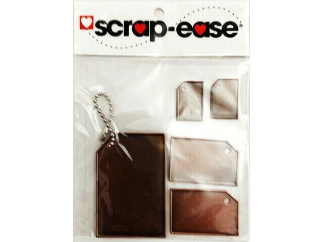 Scrap-ease Adhesive Backed Metal Tag Stickers #17285