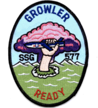 "5.125"" USS SSG-577 GROWLER EMBROIDERED PATCH - $23.74"