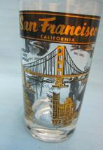 San Francisco California Commemorative Glass Tumbler Black Gold - $17.99