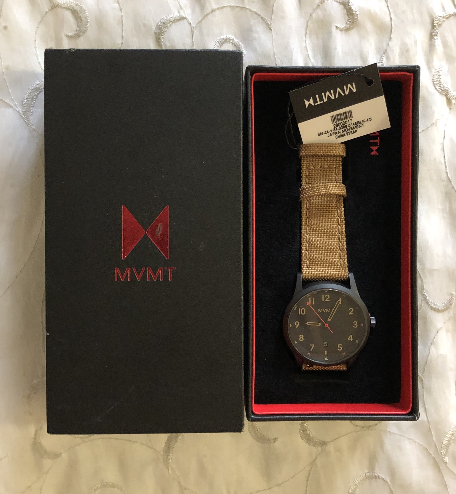 Primary image for  MVMT Trek 41mm Black Tan Mesh Band Watch