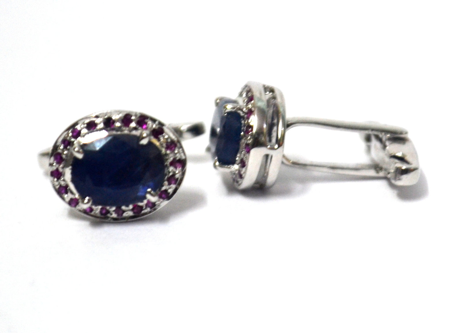 925 Sterling Silver Natural Fine Quality Blue Sapphire And Ruby Gemstone Artisti