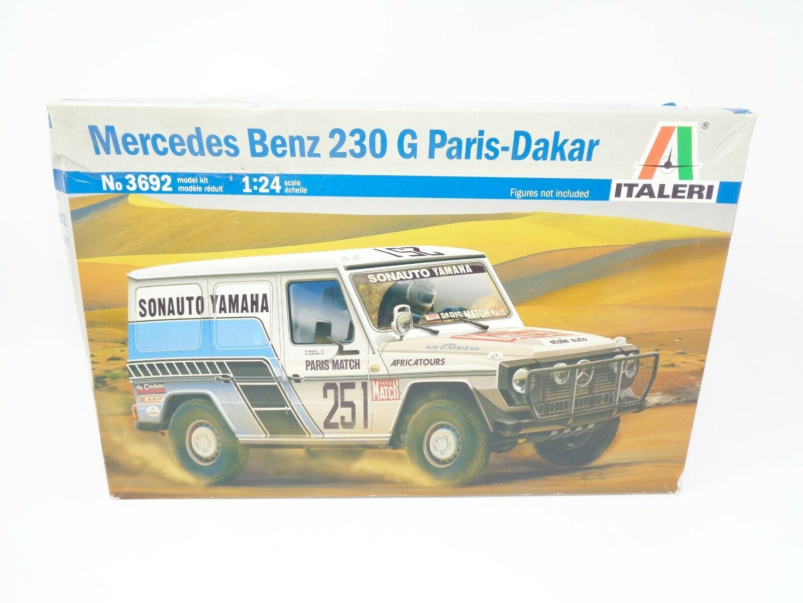 Primary image for Tamiya Italeri 3692 1:24 Mercedes-Benz 230G Paris-Dakar Rally Model Car - OB New