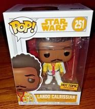 Funko Pop Star Wars #251 Lando Calrissian Solo Movie Hot Topic Exclusive - $22.99