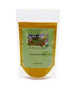 Starwest Botanicals Organic Turmeric Root Powder, 3.5 Ounce Pouch Curcumin Spice - $10.99