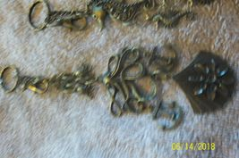 #purse jewelry bronze color keychain backpack filigree charms lot of 3 floral 21 image 6